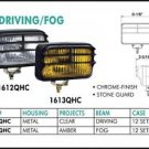 """Eagle Eye 6"""" Rectangular White 55W Driving Light Set"""
