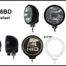 "Eagle Eye 6"" Black Round 35W HID Driving Light"