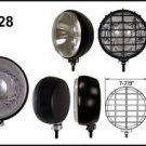 "8"" Round Black 100W Driving Lights w/ Black Grille Set"