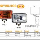 "Eagle Eye 6"" Chrome Rectangular 55W Clear Driving Light Set"