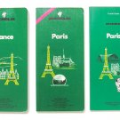 MICHELIN Paris guide, France guide, 3 Softcover, Vintage Collectible 1980's, 1990's