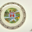 State Plate Tenessee, Vintage Souvenir Retro 1970s Decorative Plate Landmarks Plate.