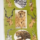 Decorative Rowland Ward Wildlife Design, 1960's Kitchen Towel Wall Art
