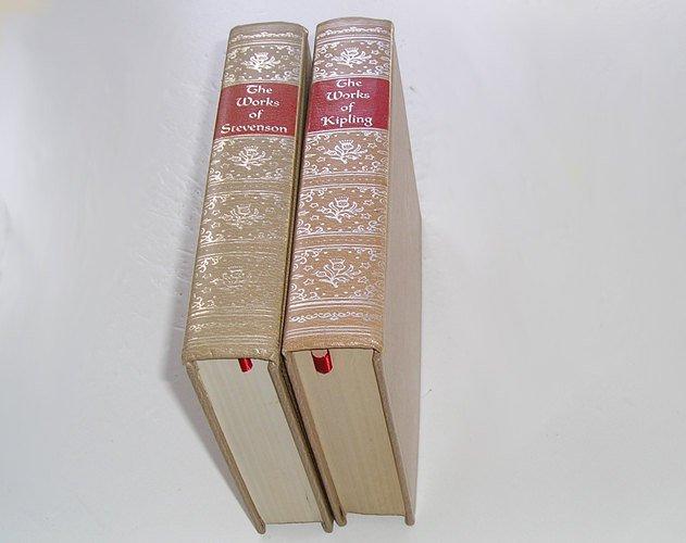 Vintage Stevenson Book, Kipling Book, Antique Decor, Shaby Chic,