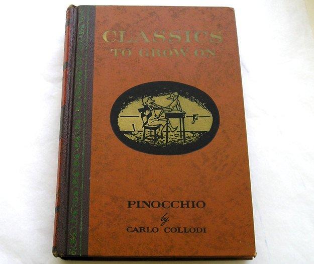 Collectible Pinocchio, Vintage Pinocchio, Carlo Collodi, 1946