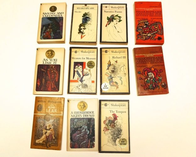 Lot Of Shakespeare Vintage Paperbacks, 5 Signet Classics