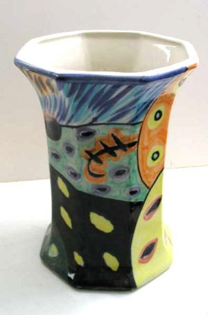 Modern Unique Vase Artistic Decor, Hand Painted Vase, Hand Glazed Vase, Modern Art,