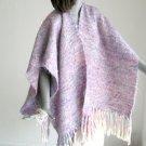 Ruana Poncho Wool Shawl Handmade Woven, Artisan Weaving, Warm Wrap,