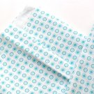 Light Cotton Fabric, Blue White Cotton, Children clothes Vintage Fabric, Turquoise, Early 1970s