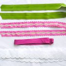 Ribbons Grosgrain Cotton Trim, Broderie Anglaise, Children clothes, Pillows, doll making...