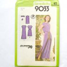 Dress Pattern, Sewing Pattern, Simplicity 9033,Size 16 MISS 1970's pullover dress in 2 lengths.