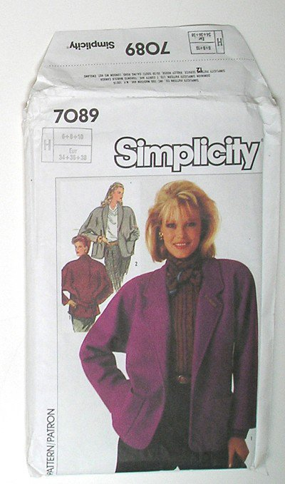 Simplicity 7089 Sewing Pattern - 3 Versions of the same Beautiful Winter Jacket - Size 6,8,10,