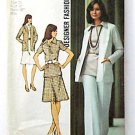 Vintage 1970s Two Piece Dress Skirt Pants Pattern, Simplicity 5530, Size 16.