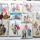 Lot of Vintage Retro Men's Shirt Patterns different styles and sizes - free extra boy's patterns