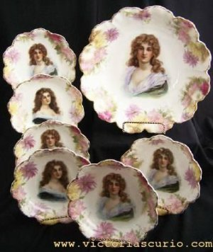 Rosenthal Antique Portrait Berry Set for 6