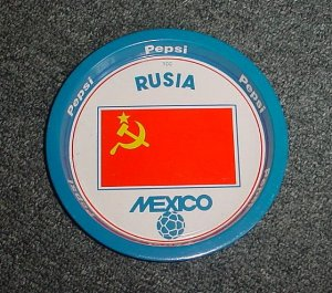 Mexico 86 Pepsi Cola Soccer World cup  tip tray Russia