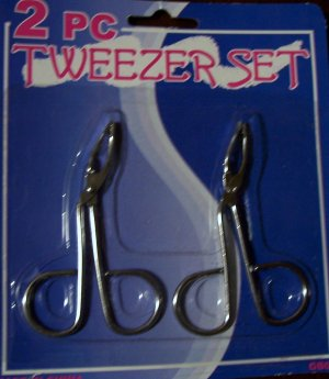 2 Piece Tweezer Set