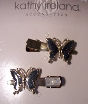 Kathy Ireland Butterfly Hair Clips