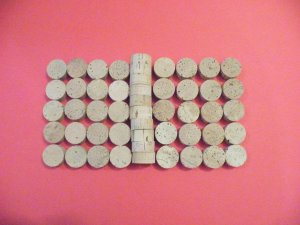 "100 CORK RINGS 1""X1/2"" NO BORE  GRADE EXTRA - 1"