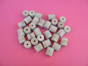 """30 CORK SECTIONS 1.14""""X1.18"""" BORE 1/4"""""""