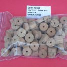 "100 CORK RINGS 1 1/4""X1/2""  BORE 1/4"" GRADE A+"