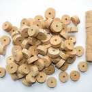 "105 CORK RINGS 1 1/4""X1/2""  BORE 1/4""  FLOR BLACK STAINS - FREE SHIP!!!!"