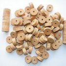 "100 CORK RINGS OVERSTOCK FLOR 11/4""X1/2"" BORE 1/4"" - FREE SHIP"
