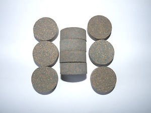 """10 RUBBERIZED CORK RINGS 1 1/4""""X1/2"""" WITHOUT BORE  BLUE -NEW !!!!!!!"""