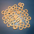 "50 CORK RINGS 1 1/4""X1/2""  BORE 3/4"" GRADE A+ - FREE SHIP"