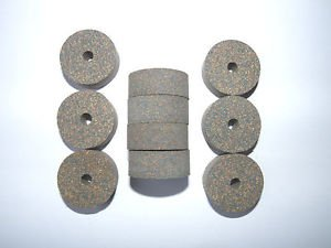 """10 RUBBERIZED CORK RINGS 1 1/4""""X1/2"""" WITH BORE 1/4""""  BLUE -NEW !!!!!!!"""