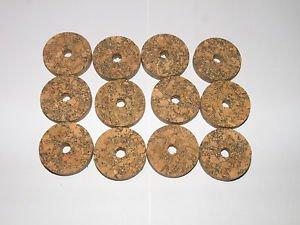 """12 BURL CORK RINGS 11/4""""X1/4""""  BROWN  BORE 1/4"""" - NEW!!!!!"""