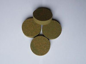 "4 RUBBERIZED CORK RINGS 1 3/4""X1/2"" NO  BORE GREEN"