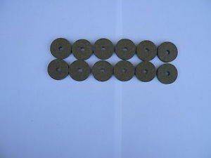 "12 RUBBERIZED CORK RINGS 11/4""X1/4"" BORE 1/4"" GREEN"