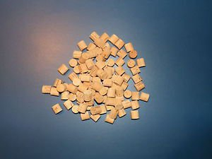 "100 CORK PLUGS/CORK STOPPERS 1/2""X0.50"""