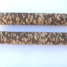 "2 BURL CORK STICKS/HANDLE/GRIPS 7.5""X1 1/8""  B+W  BORE 1/4"" - FREE SHIP"