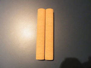 "2 AGGLOMERATED CORK STICKS/HANDLE/GRIPS 7.5""X1 1/8""  FINE GRAINE  BORE 1/4"""