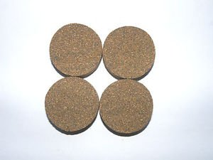 "4 RUBBERIZED CORK RINGS 1 3/4""X1/2"" NO  BORE BLACK FINE GRAIN"