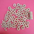 "50 CORK RINGS 11/4""X1/2"" GRADE EXTRA BORE 1/2"" PLUS PLUGS"