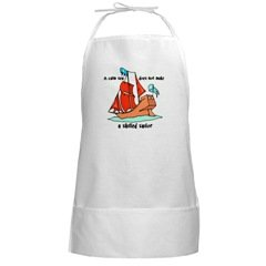 Skilled Sailor Cooking BBQ Grill Long White Apron