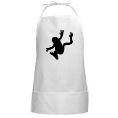 Frog Silhouette Chefs Apron