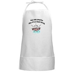 Psycho chef BBQ Cooking Grilling Long White Apron
