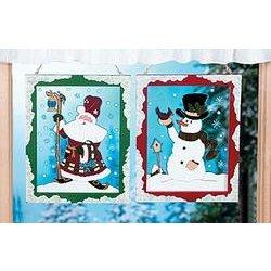 Snowman & Santa Wall Hanging Set