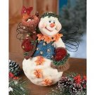 Resin Snowgirl With Wire Wings
