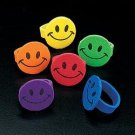144 Foam Smile Face rings
