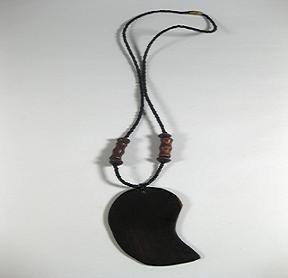"""18"""" Necklace.  Mixed beads and handmade Mukwa beads and umutondo wood pendant"""