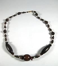 """16"""" Mukwa and Umuseshi handmade wood bead necklace"""
