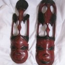 Hand carved African masks