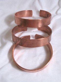copper bracelet thin/flat