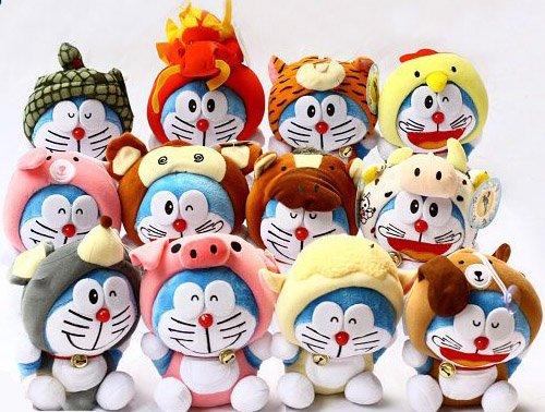 Doraemon (Ding Dang) Chinese Zodiac Plush Set