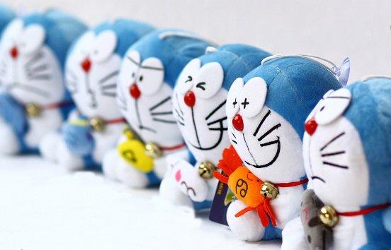 12 different faces Doraemon (Ding Dang) Plush Set
